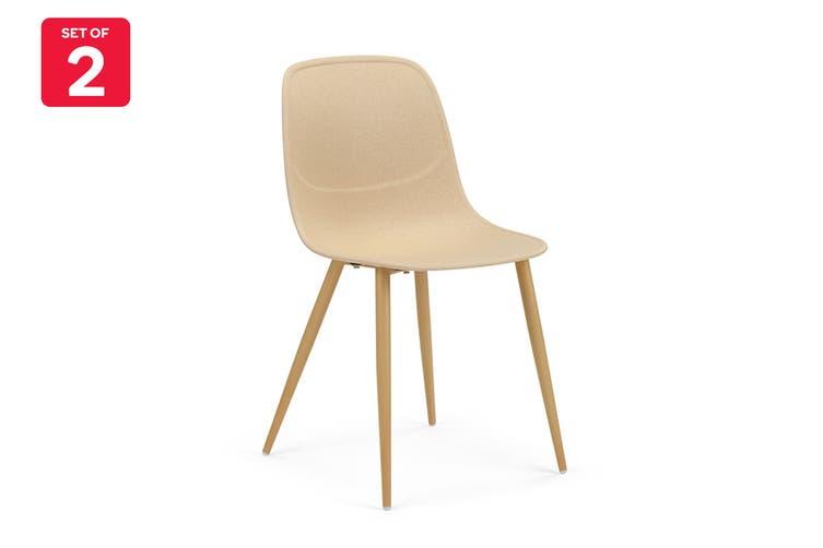 Ovela Set of 2 Brooke Dining Chairs (Beige)