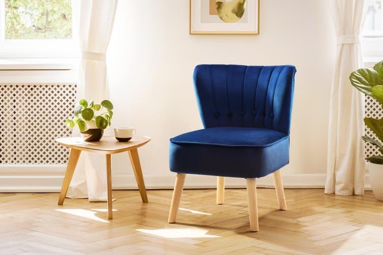 Ovela Alivia Accent Chair (Navy)
