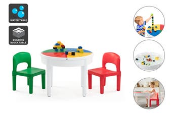 Ovela Kids Circle 3-in-1 Activity Table with 2 Chairs