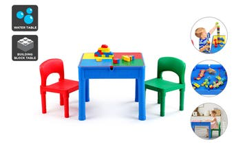 Ovela Kids Square 3-in-1 Activity Table with 2 Chairs