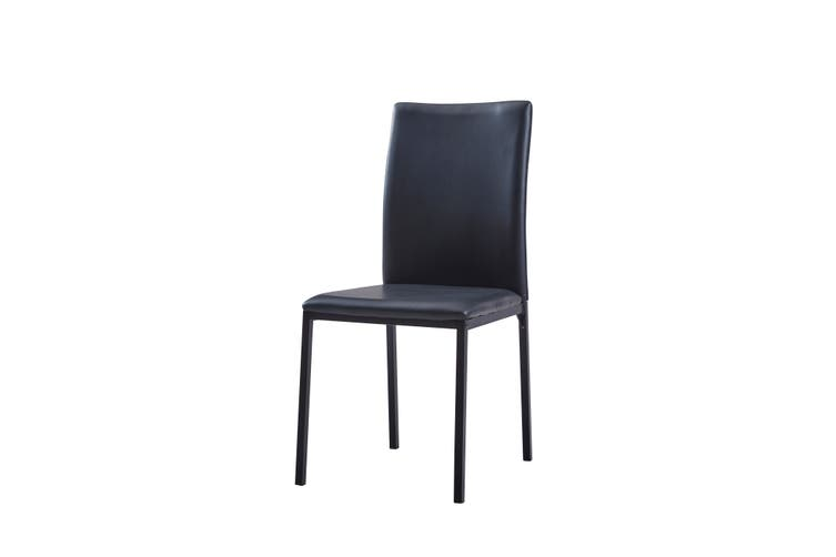 Ovela Ascot 5 Piece Dining Table & Chair Set (Wood/Black)