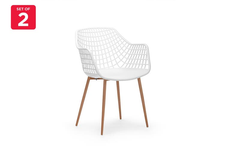 Ovela Set of 2 Leerdam Armchairs (White)