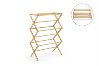 Ovela Bamboo Foldable Clothes Drying Rack