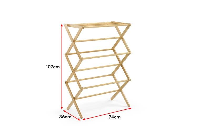 Ovela Bamboo Foldable Clothes Drying Rack