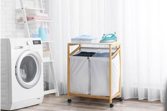 Ovela Bamboo Laundry Cart