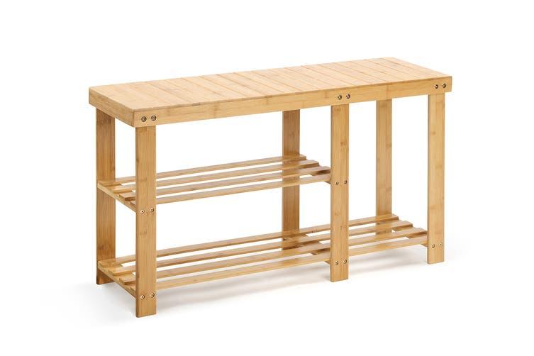 Ovela Bamboo Shoe Bench