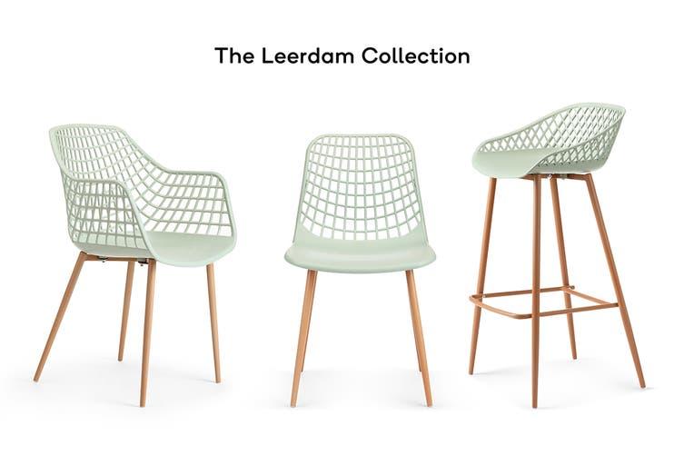 Ovela Set of 2 Leerdam Dining Chairs (Pastel Green)
