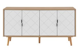 Ovela Banbury 4 Door Buffet (White/Oak)
