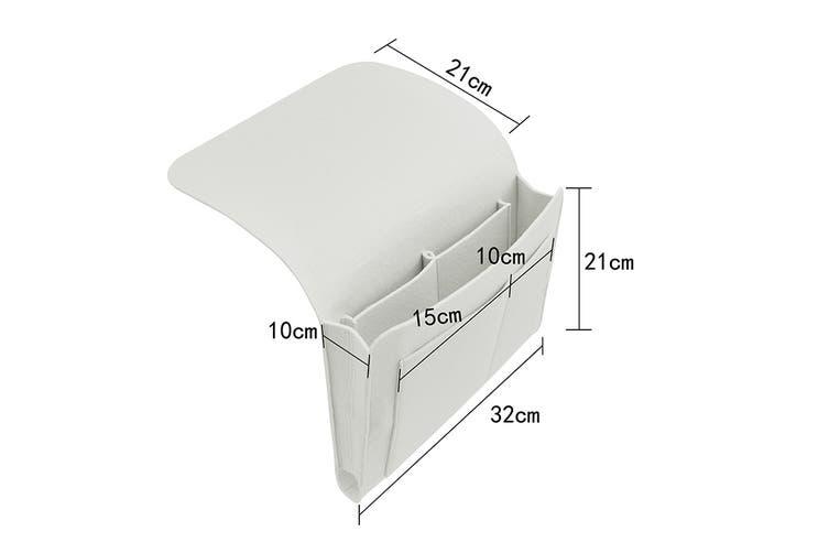 Ovela Bedside Organiser (White Marl)