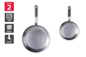 Ovela Set of 2 Carbon Steel Frypans