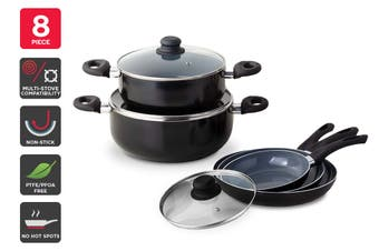 Ovela 8 Piece CeraMax Ceramic Cookware Set