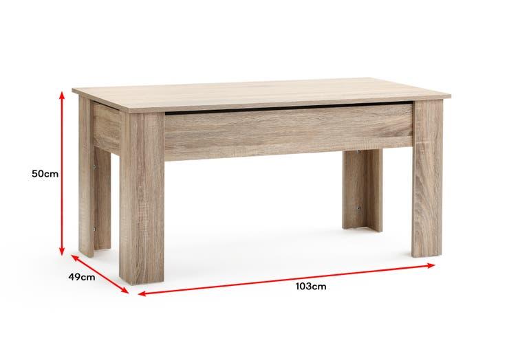Ovela Charlotte Storage Coffee Table (Natural)
