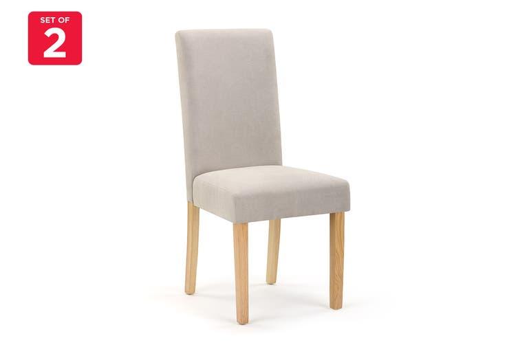 Ovela Set of 2 Kyran Fabric Dining Chairs (Beige)
