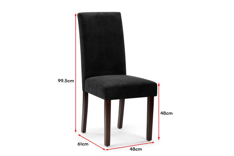 Ovela Set of 2 Kyran Fabric Dining Chairs (Black)