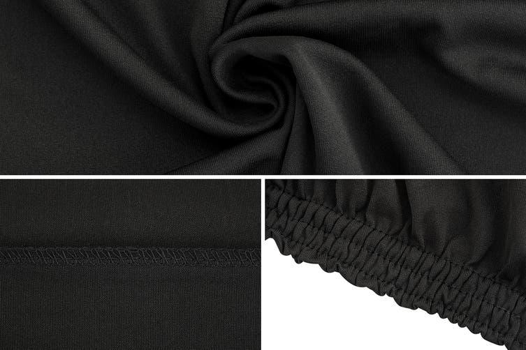 Ovela Pack of 8 Set Dining Chair Cover (Black)