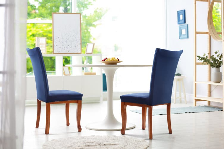 Ovela Pack of 4 Set Dining Chair Cover (Navy)