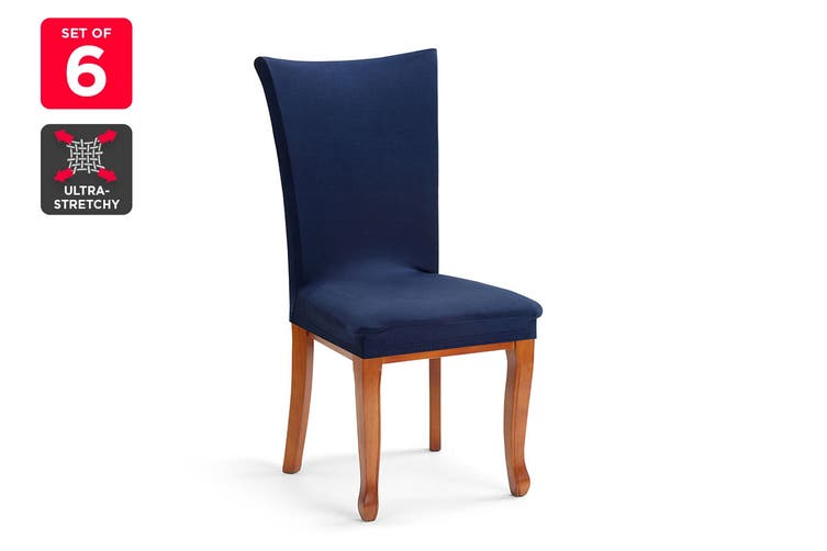 Ovela Pack of 6 Set Dining Chair Cover (Navy)