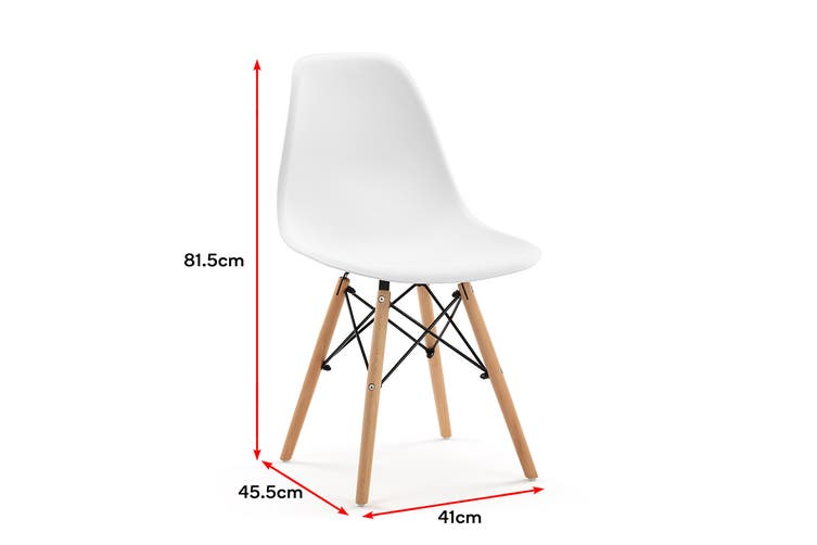 Ovela Eames Replica Set of 4 Dining Chairs (White)