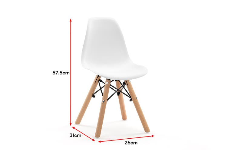 Ovela Kids Eames Replica Set of 4 Dining Chairs (White)