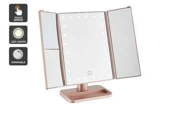 Ovela Fold Out Hollywood Makeup Mirror (Rose Gold)