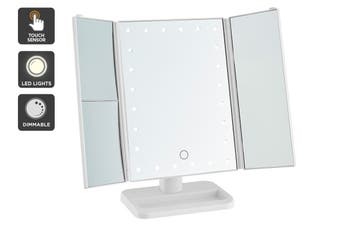 Ovela Fold Out Makeup Mirror (White)