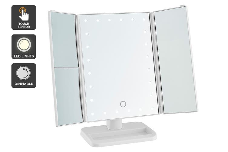 Ovela Fold Out Hollywood Makeup Mirror (White)