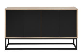 Ovela Halifax 4 Door Buffet (Oak/Black)