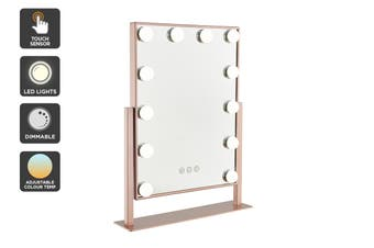 Ovela Hollywood Makeup Mirror Illuminated Light (Rose Gold)