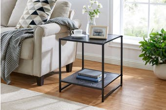 Ovela Metal Side Table (Black)