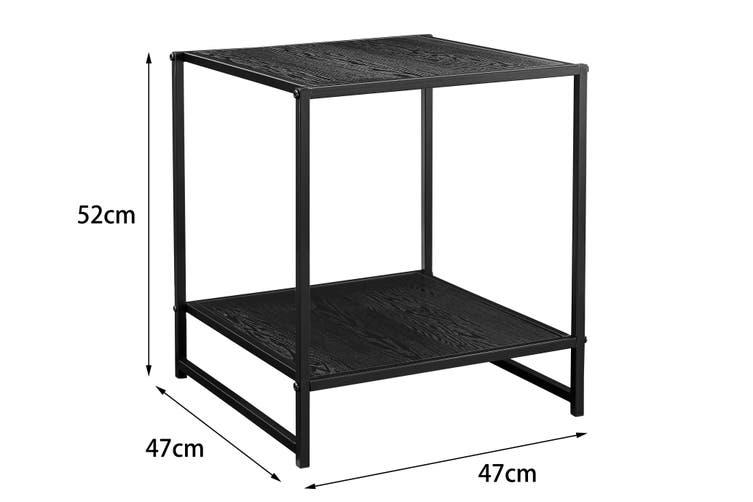 Ovela Metal Side Table (Black)