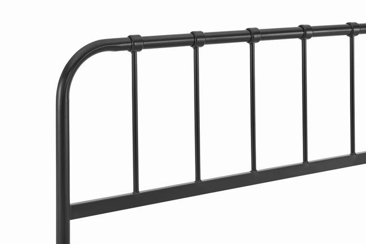 Ovela Milan Metal Bed (Black, Single)
