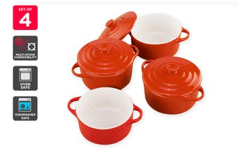 Ovela Set of 4 300g Mini Casserole Dishes