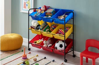 Ovela Multi Coloured Kids Storage Boxes
