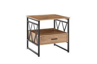 Ovela Newtown Bedside Table (Rustic Oak)