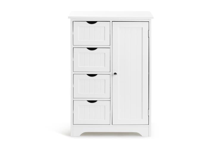 Ovela Olivia 4 Draw Bathroom Cabinet (White)