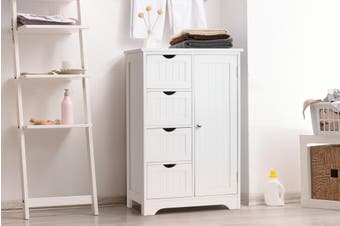 Ovela Olivia 4 Draw Bathroom Cabinet (White)