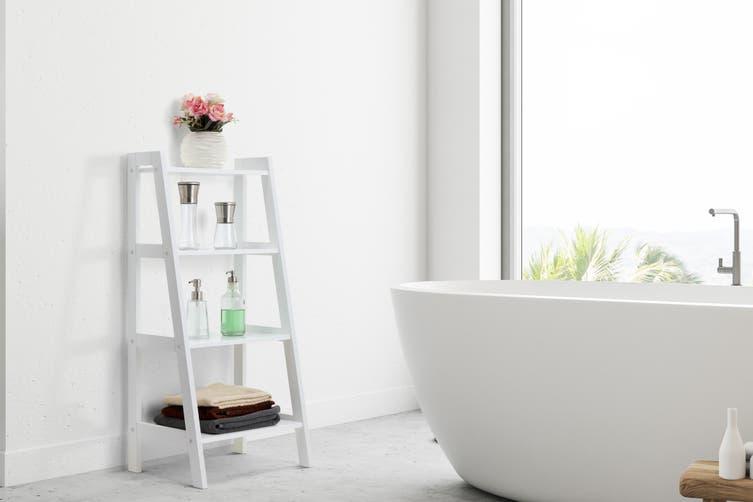 Ovela Olivia 4 Tier Shelf (White)