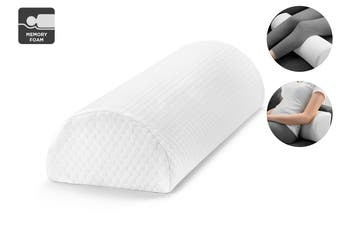 Ovela Half Moon Memory Foam Bolster Ankle & Knee Pillow
