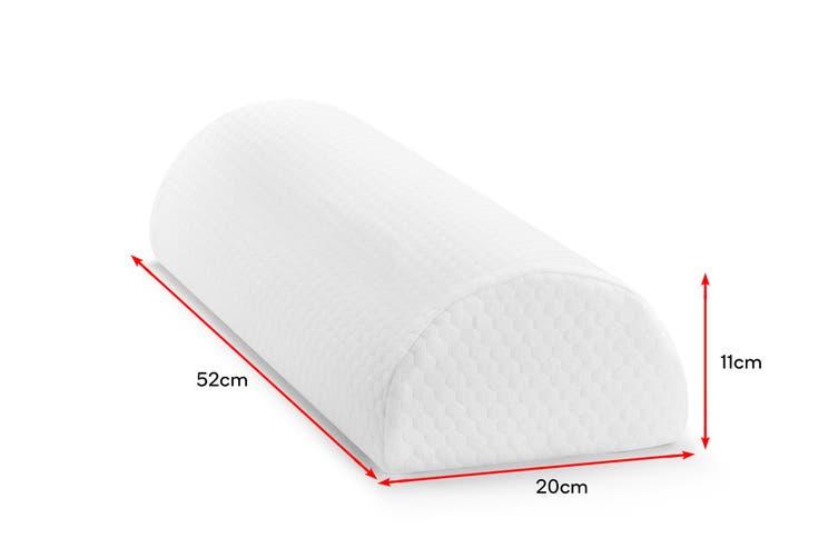 Ovela Half Moon Memory Foam Bolster Ankle & Knee Pillow