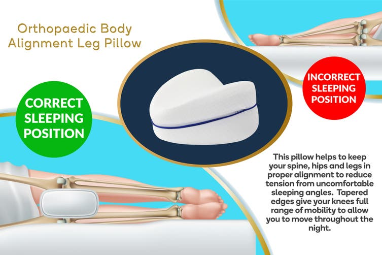 Ovela Memory Foam Orthopaedic Body Alignment Leg Pillow