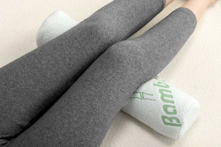 Ovela Set of 2 Memory Foam Neck Roll Bolster Pillows