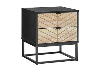 Ovela Pizzola 2 Drawer Nightstand