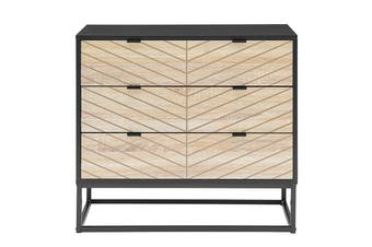 Ovela Pizzola 3 Drawer Cabinet