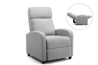 Ovela Recliner Chair (Grey Fabric)
