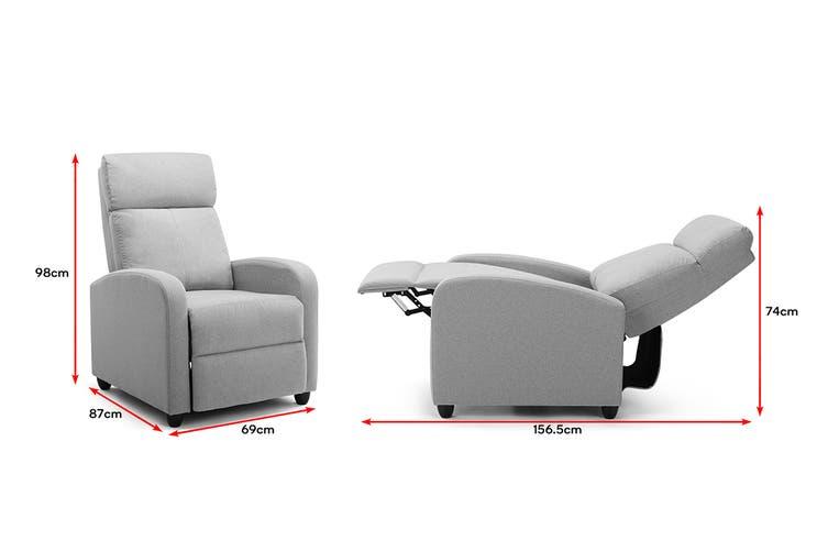 Ovela Recliner Chair (Grey Fabric)