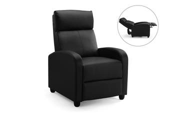 Ovela Recliner Chair (Black PU)