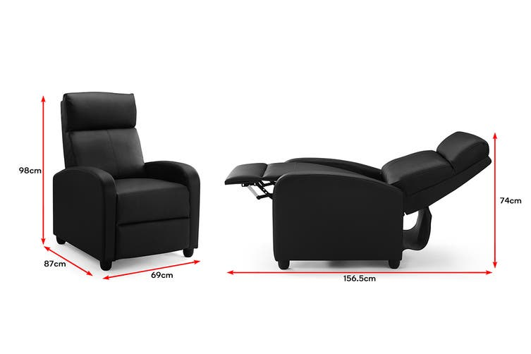 Ovela Recliner Chair (Black PU)
