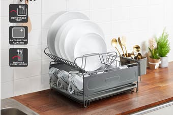 Ovela Dish Drainer with Tray and Cutlery Holder
