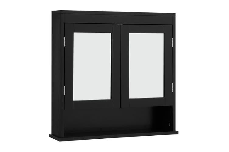 Ovela Sanderson Bathroom Mirrored Wall, Black Mirrored Bathroom Cabinet