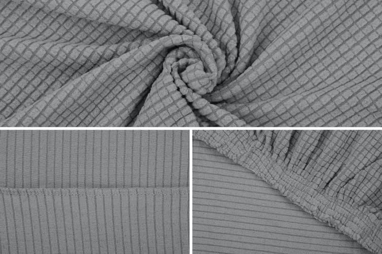 Ovela 3 Seater Sofa Cover Waffle (Grey)